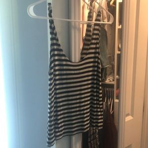 Black-and-White Striped Tank Top
